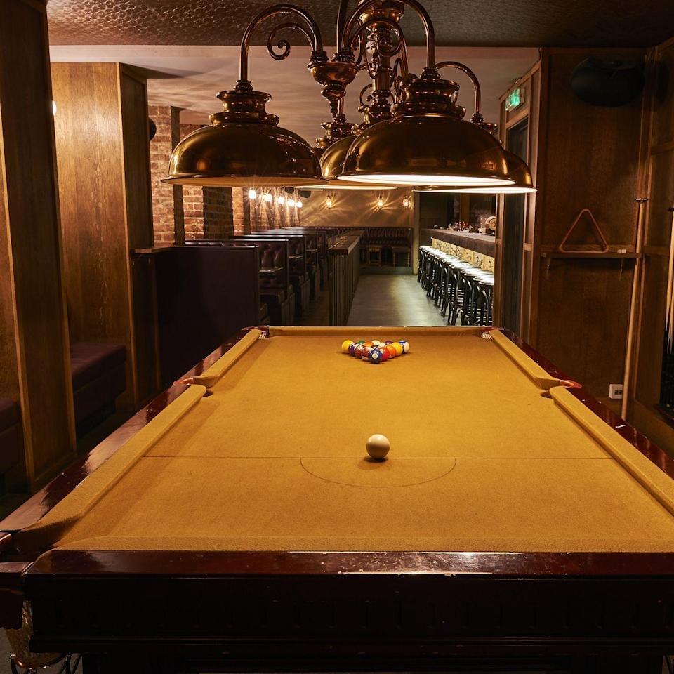 """<p>This cool north London cocktail bar has tons to keep you entertained, from its extensive cocktail list to the pool table found downstairs.</p><p>The dimly lit, long and thin venue has cosy booths making it ideal for small group gatherings. Found underground - so much that you'd also miss it - it's a great spot to finish up after a nice walk near neighbouring Victoria Park where you can stay until the early hours over the weekend thanks to its 1.30 am closing time.</p><p>Find <a href=""""http://originalsin.bar/"""" rel=""""nofollow noopener"""" target=""""_blank"""" data-ylk=""""slk:Original Sin"""" class=""""link rapid-noclick-resp"""">Original Sin </a>at 129 Stoke Newington High S.</p>"""
