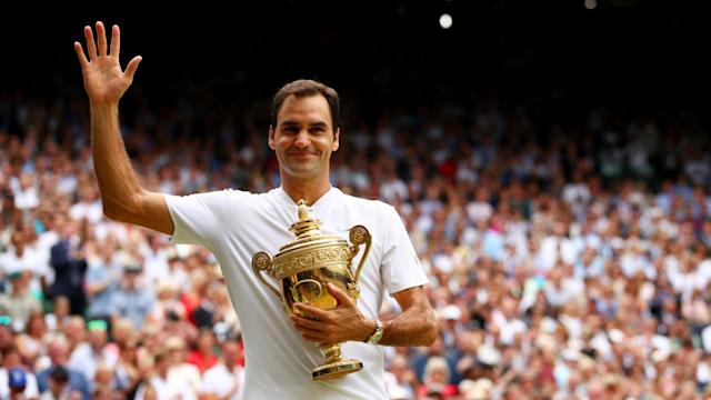 Roger Federer lost to Jiri Novak on his Wimbledon debut 20 years ago, but now he is the tournament's greatest men's champion with 100 wins.