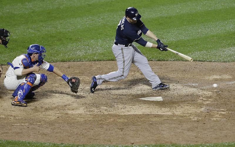 Lucroy's homer in 13th sends Brewers over Mets 5-1