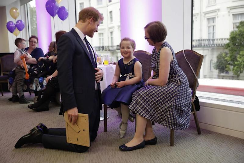 Prince Harry met Erin the night before at the awards show. Photo: Getty Images