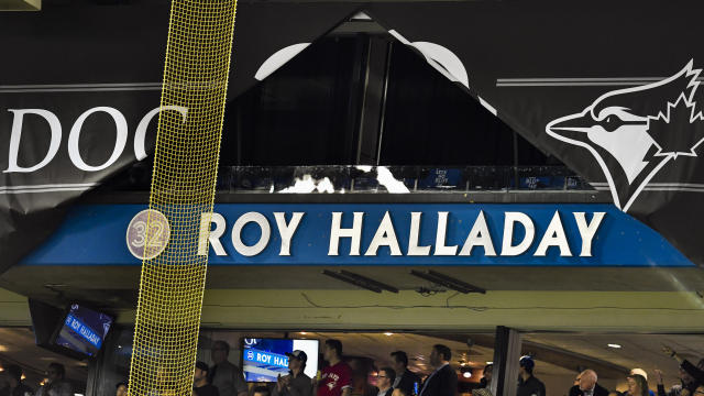 Roy Halladay will be enshrined in the Hall of Fame on Sunday. (Jeff Chevrier/Icon Sportswire via Getty Images)