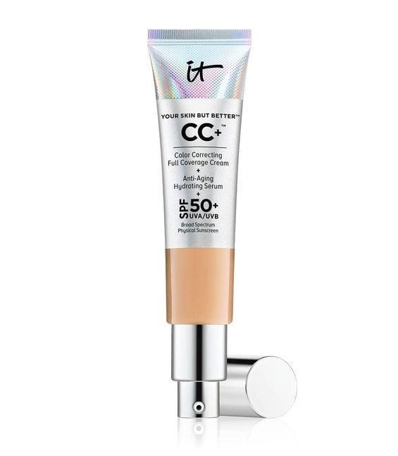 <p>The <span>It Cosmetics Your Skin But Better CC+ Cream</span> ($40) is a color-correcting full-coverage cream with SPF 50+ built-in. It's packed with collagen, antioxidants, and vitamins that keep skin radiant and smooth. </p>