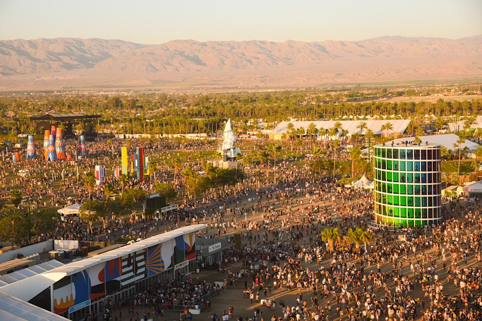 Festival atmosphere at 2019 Coachella Valley Music And Arts Festival in Indio, California.