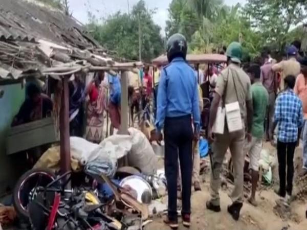 The villagers in Burdwan district vandalised the houses of three persons accused of the kidnapping and murder. (Photo/ANI)