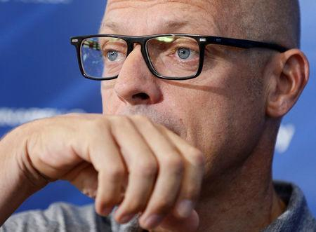 Cycling - Tour de France - Rest day - Carcassonne, France, July 23, 2018. Team Sky manager Dave Brailsford gives a press conference on the second rest day. REUTERS/Regis Duvignau