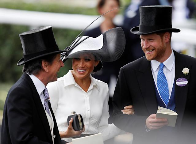 Horse Racing - Royal Ascot - Ascot Racecourse, Ascot, Britain - June 19, 2018 Britain's Prince Harry and Meghan, the Duchess of Sussex arrive at Ascot racecourse REUTERS/Peter Nicholls