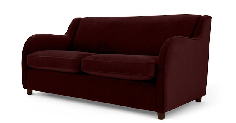 Made, Helena Sofabed, Plush Burgundy Velvet (Photo: HuffPost UK)