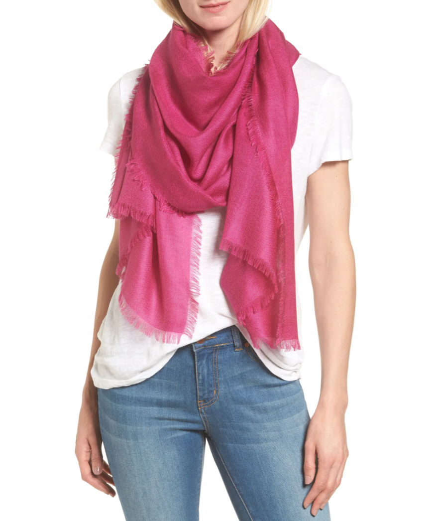 Cashmere & Silk Wrap by Nordstrom is on sale during the Nordstrom Made sale.