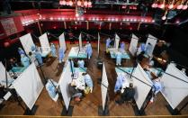 People get tested before the first massive concert since the beginning of COVID-19 pandemic in Barcelona