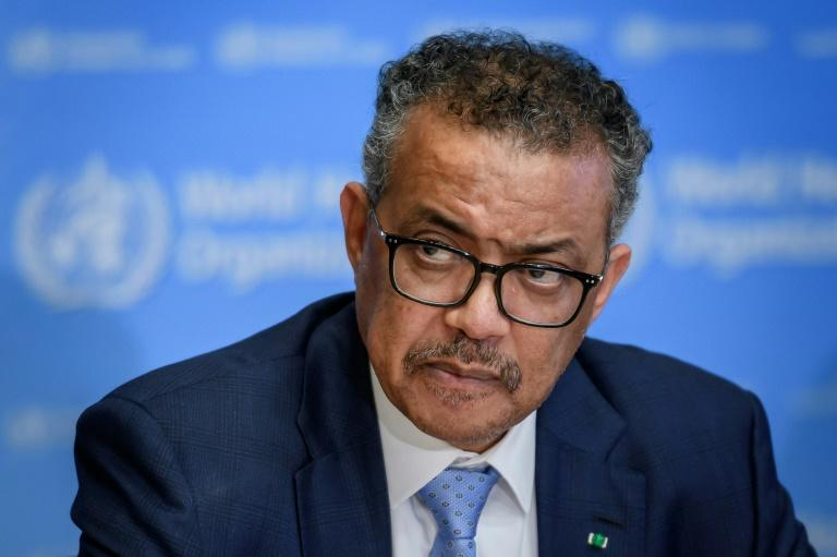WHO chief Tedros Adhanom Ghebreyesus said the number of new coronavirus cases registered in the past day in China was far lower than in the rest of the world (AFP Photo/FABRICE COFFRINI)