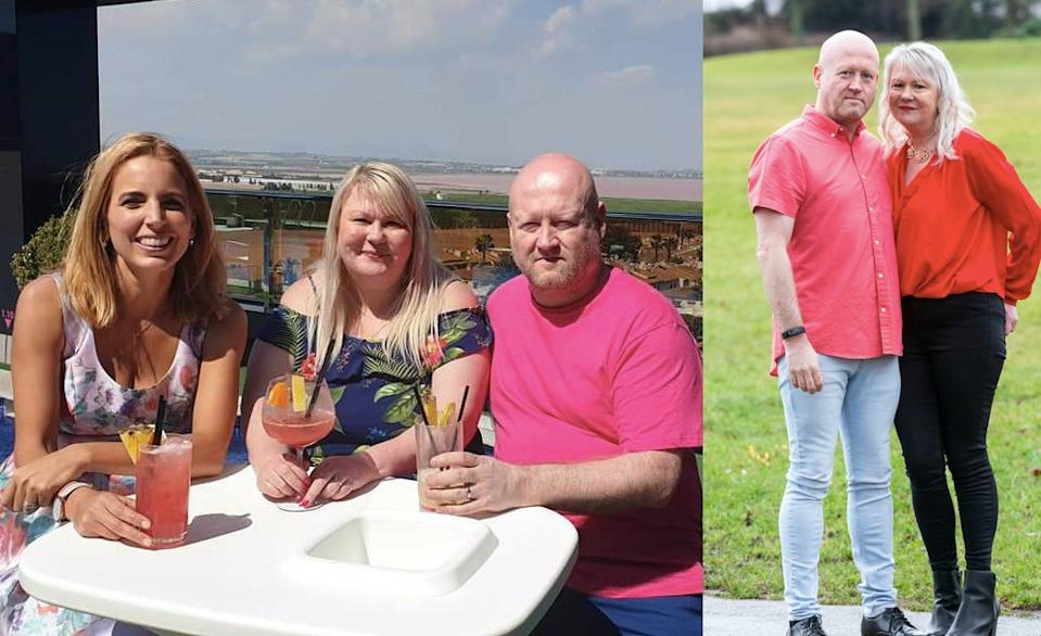 Paul and Lisa Sanderson lost 12 stone between them after watching an episode of themselves on A Place In The Sun. (SWNS)