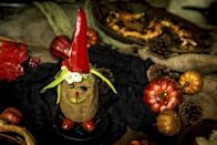 """<p>Let your child's imagination run wild with this spooky spud recipe. Take a baked potato and attach different vegetables to create a character that your child will enjoy before dinner.</p> <p><a href=""""https://www.thedailymeal.com/recipes/spooky-spuds-recipe?referrer=yahoo&category=beauty_food&include_utm=1&utm_medium=referral&utm_source=yahoo&utm_campaign=feed"""" rel=""""nofollow noopener"""" target=""""_blank"""" data-ylk=""""slk:For the Spooky Spuds recipe, click here."""" class=""""link rapid-noclick-resp"""">For the Spooky Spuds recipe, click here.</a></p>"""