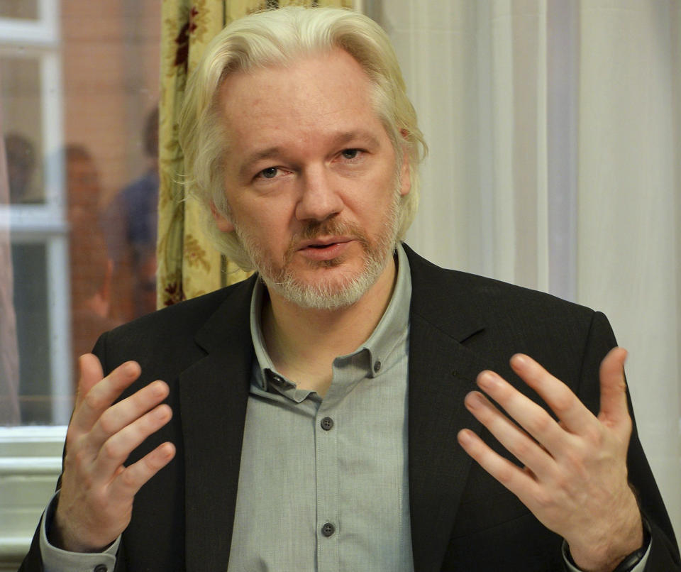 Anderson asked Trump to pardon WikiLeaks founder Julian Assange (pictured in 2014). (Photo: REUTERS/John Stillwell/pool)