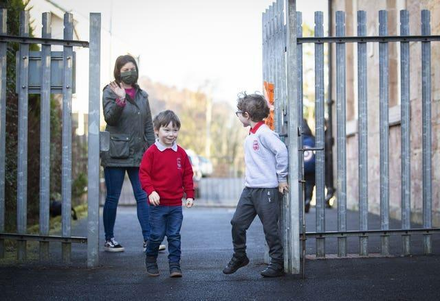 Scotland's youngest pupils have returned to the classroom as part of a phased reopening of schools