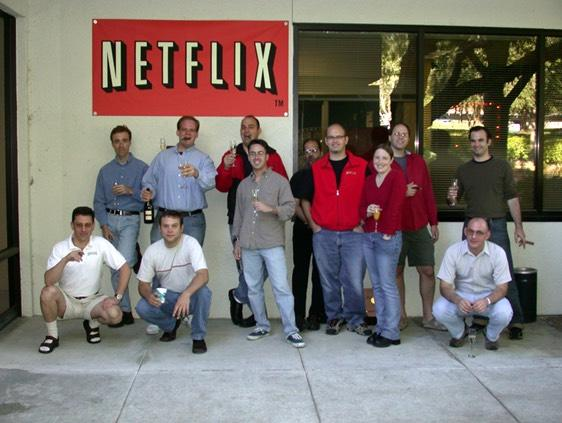A team of early Netflix employees, including co-founder and first CEO Marc Randolph.