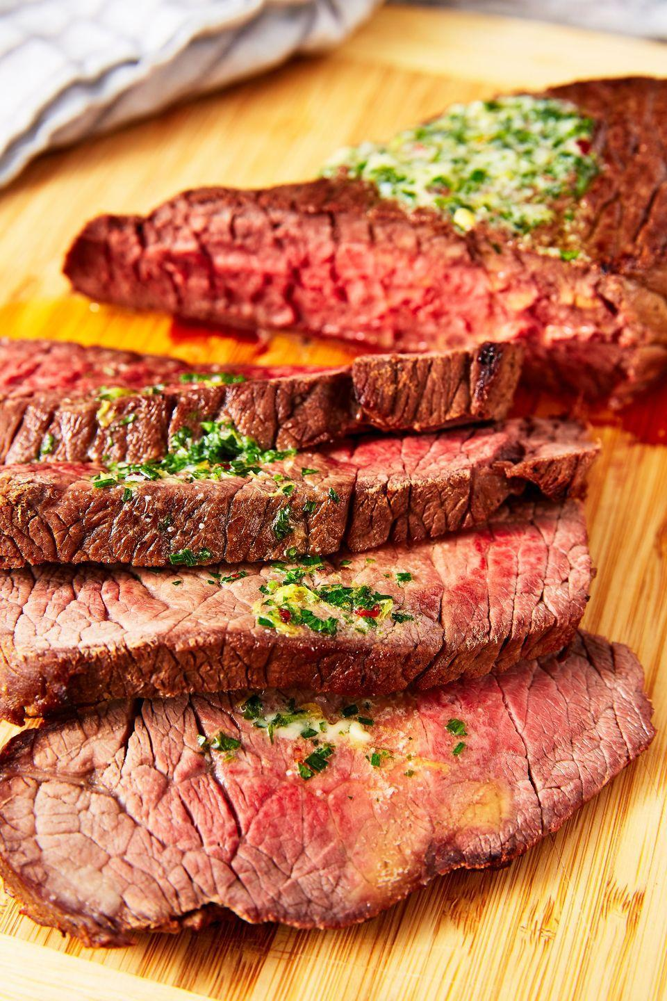 """<p>This old-school cooking technique is our new fave.</p><p>Get the recipe from <a href=""""https://www.delish.com/cooking/recipe-ideas/a25621332/london-broil-recipe/"""" rel=""""nofollow noopener"""" target=""""_blank"""" data-ylk=""""slk:Delish"""" class=""""link rapid-noclick-resp"""">Delish</a>. </p>"""