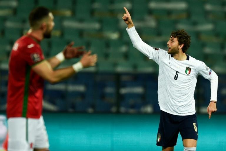 Manuel Locatelli scored his first Italy goal.