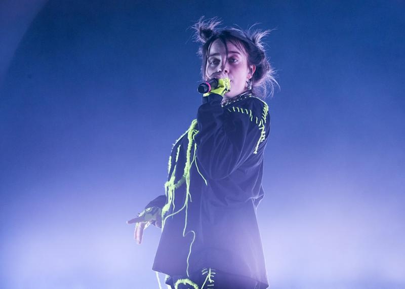 PERTH, AUSTRALIA - MAY 10: Billie Eilish performs on stage at the Fremantle Arts Centre on May 10, 2019 in Perth, Australia. (Photo by Matt Jelonek/WireImage)
