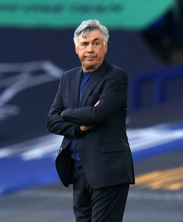 Everton manager Carlo Ancelotti acknowledged his team's had chances to win but agreed with Klopp that a draw was a fair outcome (PA)