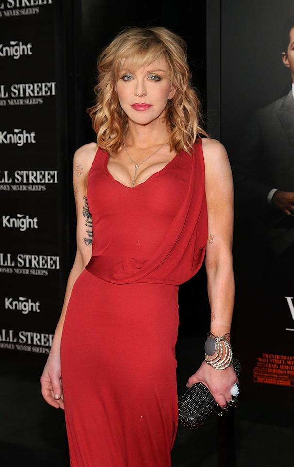 "<a href=""http://movies.yahoo.com/movie/contributor/1800018570"">Courtney Love</a> attends the New York City premiere of <a href=""http://movies.yahoo.com/movie/1810045848/info"">Wall Street: Money Never Sleeps</a> on September 20, 2010."