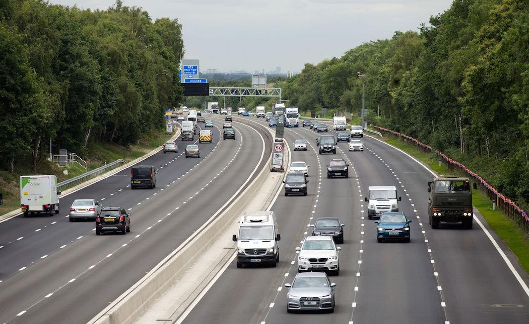 """Part of the M3 also operates as a """"smart motorway"""" (Picture: PA)"""
