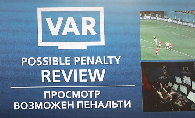 VAR comes into play during Russia's game with Egypt in Group A. (Getty)