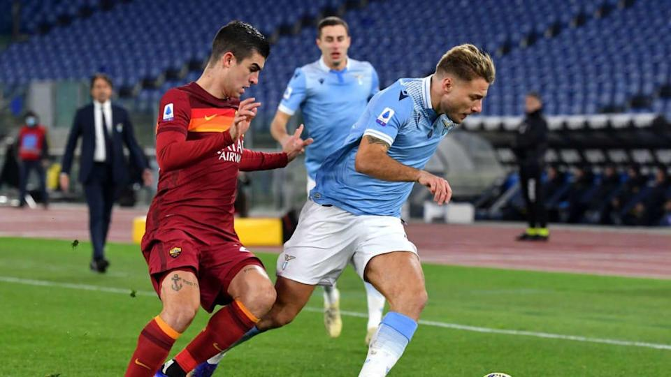 Mancini alle prese con Immobile | MB Media/Getty Images