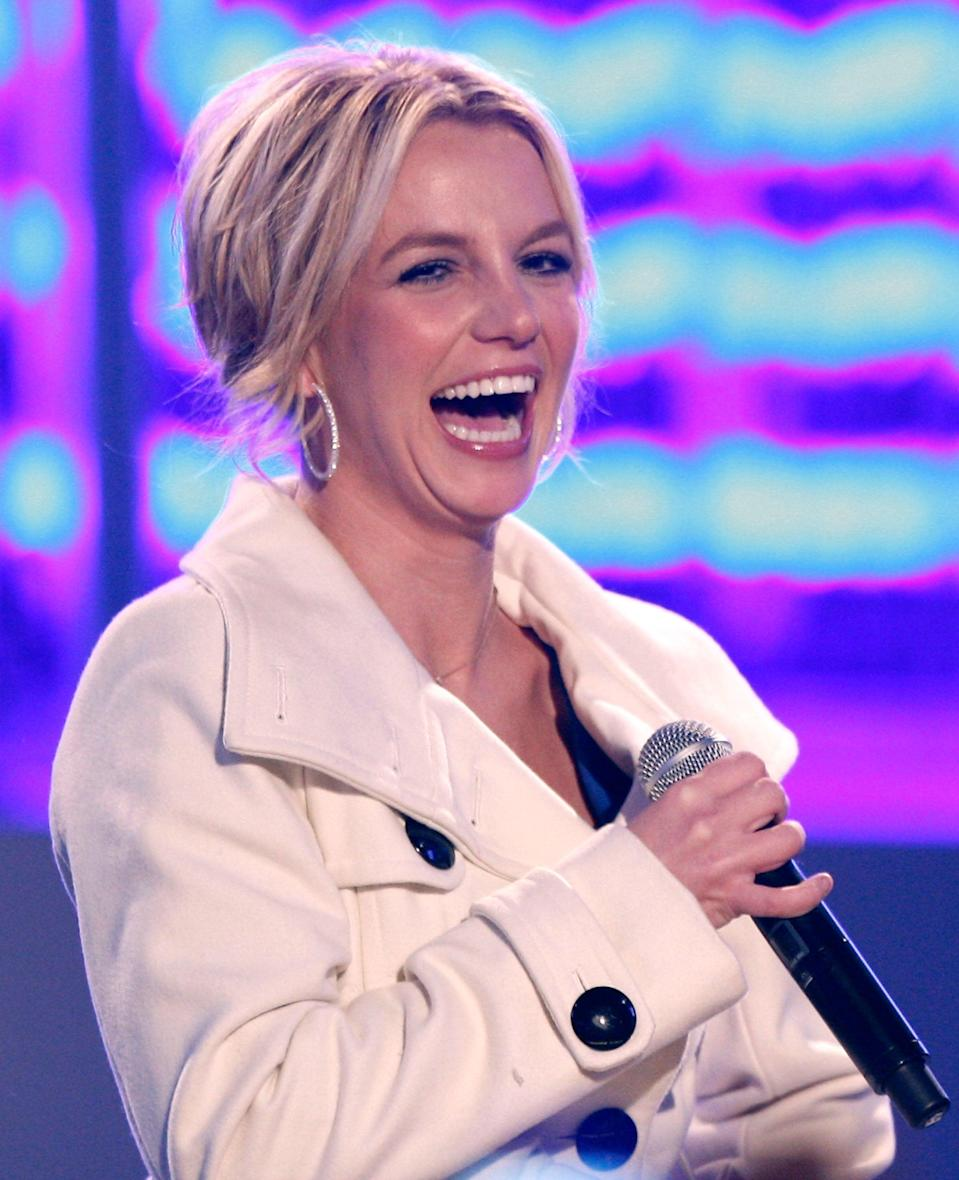 Spears on stage in 2008 (Getty Images)