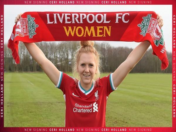Midfielder Ceri Holland (Photo/ Liverpool FC Women Twitter)
