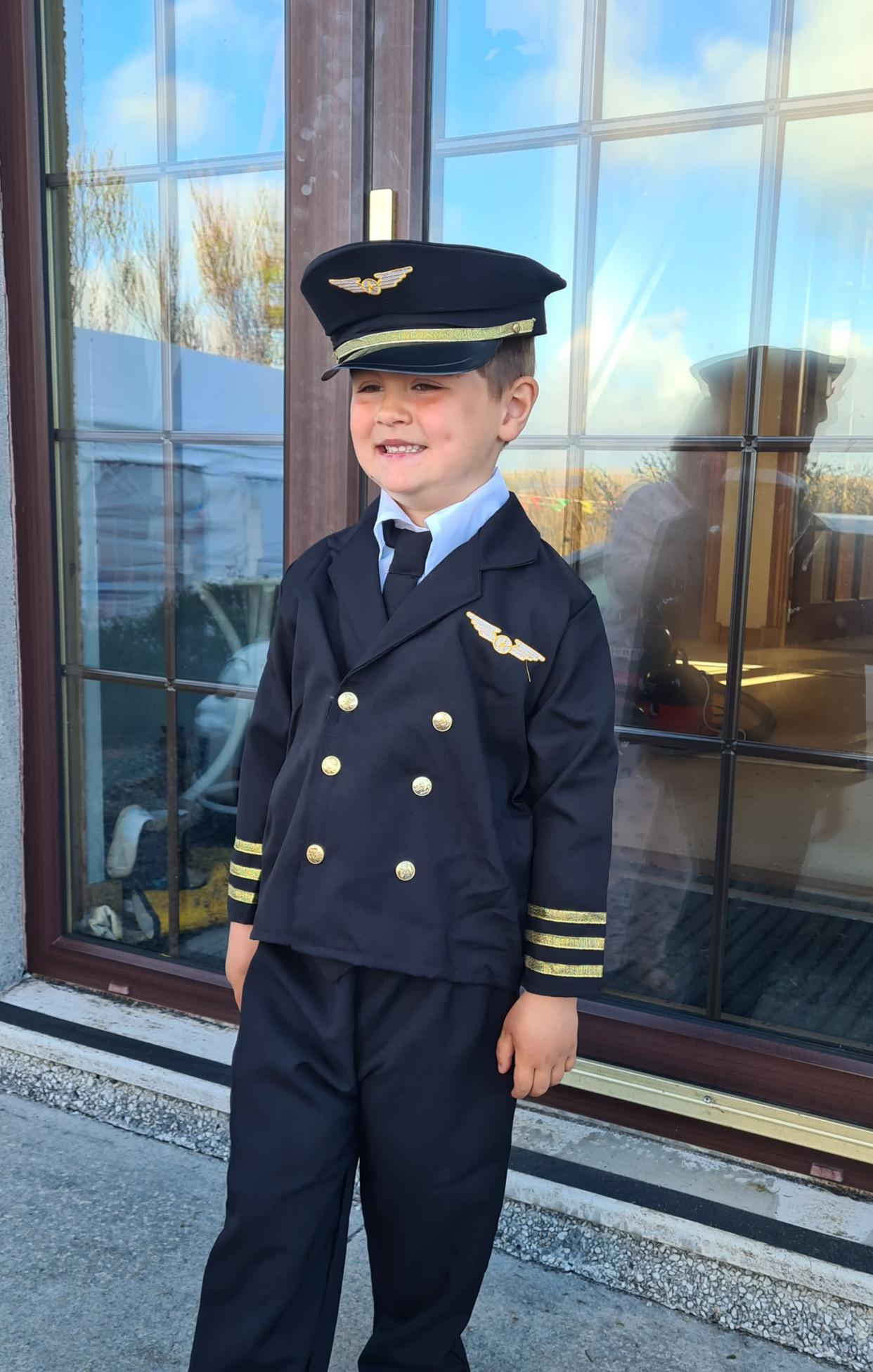 George hopes to be a pilot when he's older (Loganair/PA)