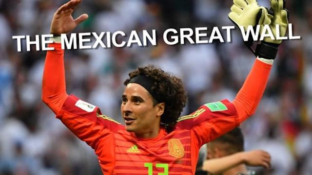 Mexican goalkeeper Guillermo Ochoa's stunning performance in his team's surprise 1-0 win over World Cup champions Germany has earned him accolades, praise and of course...memes.