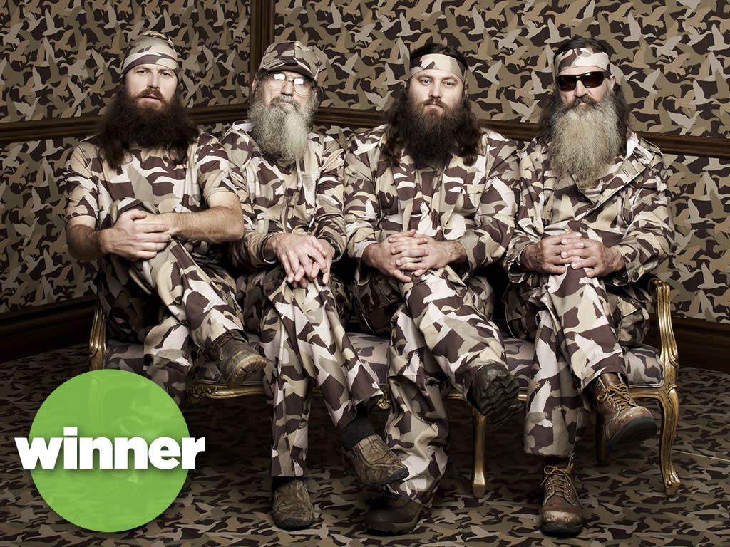 "Phil, Jase, Willie & Si Robertson of the A&E series ""Duck Dynasty."""