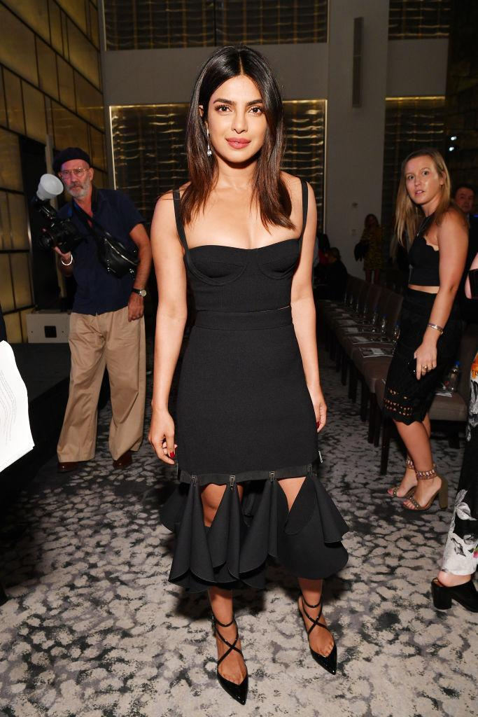 <p>On September 6, actress Priyanka Chopra chose a slick Dion Lee co-ord for the 2018 Daily Front Row's Fashion Media Awards. <em>[Photo: Getty]</em> </p>