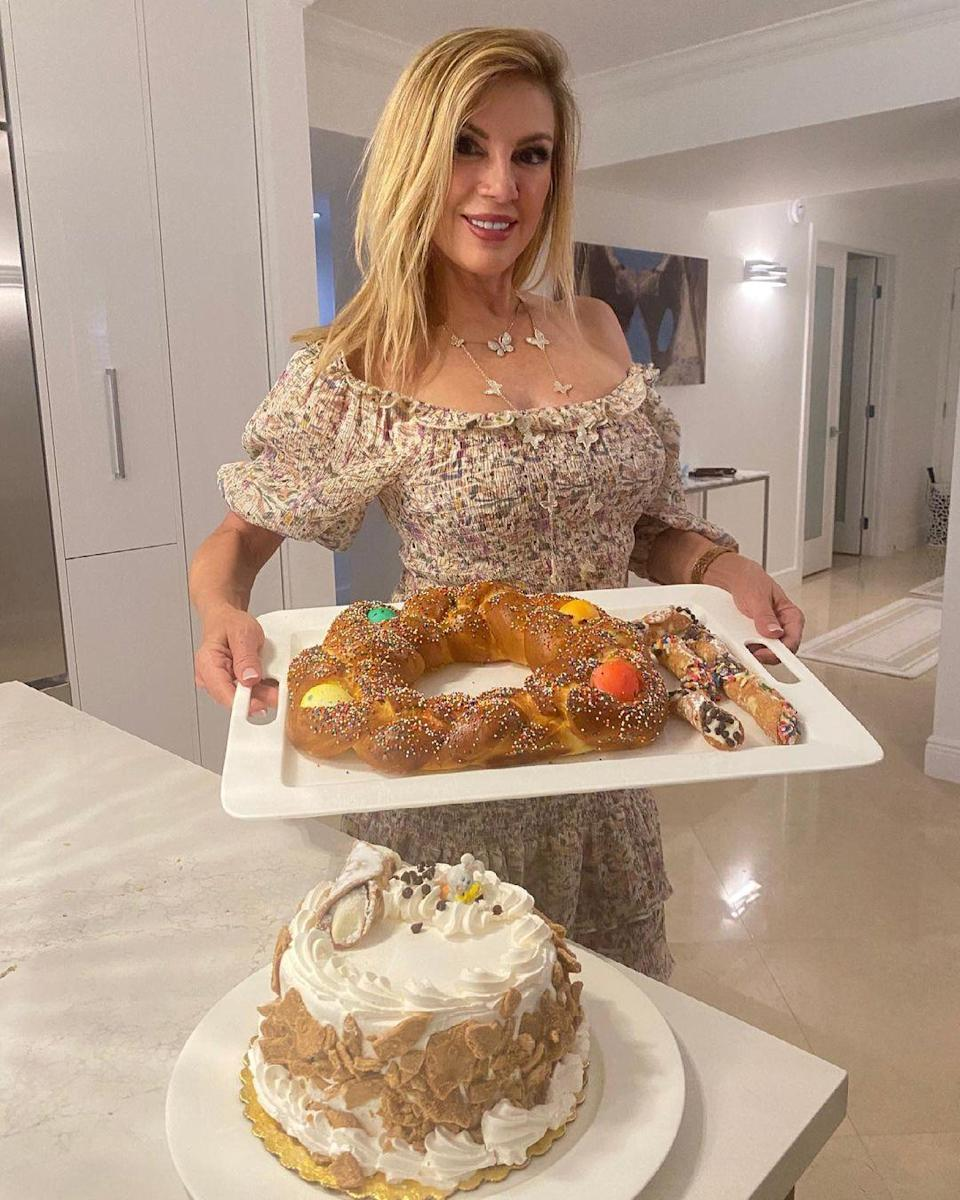 "<p>The <em>Real Housewives of New York</em> star, 64, was in charge of the sweets for her Easter dinner. ""Tonight I am definitely indulging in this dessert!!"" she said on Instagram. </p>"