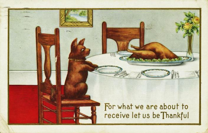 1914 — For What We Are About to Receive Postcard — Image by © PoodlesRock/Corbis