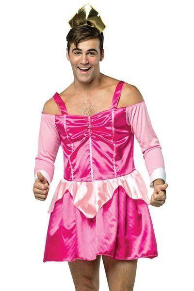 """One glance at this """"<a href=""""https://www.3wishes.com/mens/mens-costumes/mens-sleeping-boozey-costume/"""" target=""""_blank"""">Sleeping Dude-y""""</a> costumeand you might think, """"Ugh. Some bro thinks he's funny dressing up as a princess while still trying to maintain his hetero image."""" Actually, that's what we think on the second or third glance as well."""