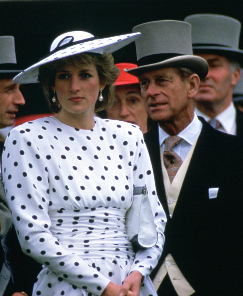 Prince Philip and Princess Diana at Derby Day