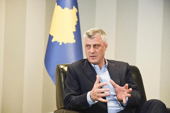 Hashim Thaci, pictured during an interview with AFP on February 3, was elected president of Kosovo on February 26, 2016 (AFP Photo/Armend Nimani)