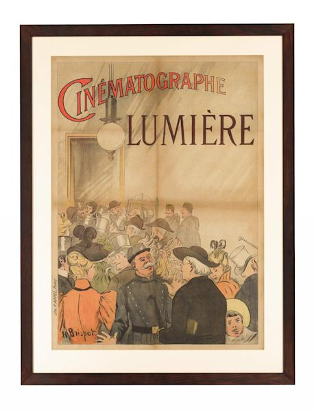 <p>The poster promoted the Lumiere brothers' short films.</p>