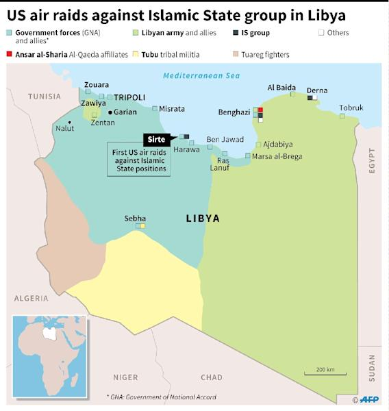 US launches air raids against Islamic State group in Libya (AFP Photo/)