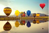 """<p><strong>Where to go:</strong> The desert isn't exactly full of trees, but visit Albuquerque International Balloon Fiesta to see a rainbow of color fill the sky instead. More than 500 hot air balloons take flight in the stunning annual festival. </p><p><strong>When to go: </strong>Early October</p><p><a class=""""link rapid-noclick-resp"""" href=""""https://go.redirectingat.com?id=74968X1596630&url=https%3A%2F%2Fwww.tripadvisor.com%2FHotels-g60933-Albuquerque_New_Mexico-Hotels.html&sref=https%3A%2F%2Fwww.redbookmag.com%2Flife%2Fg34045856%2Ffall-colors%2F"""" rel=""""nofollow noopener"""" target=""""_blank"""" data-ylk=""""slk:FIND A HOTEL"""">FIND A HOTEL</a></p>"""