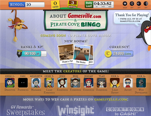 Pirate Cove Bingo creators