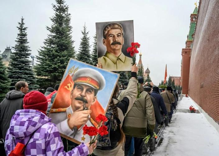 Joseph Stalin's remains were quietly transferred to a more modest resting place near the Kremlin (AFP Photo/Mladen ANTONOV)