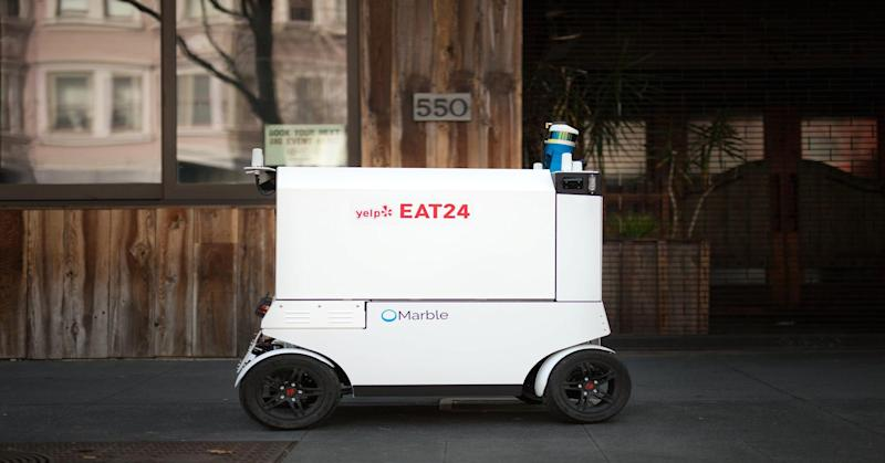 Robots are now delivering food in San Francisco