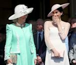 <p>Only days after her wedding, Meghan Markle was spotted at her first official event as a Duchess. Perhaps Camilla is sharing some inside tips with her ... or maybe she just told a funny joke. </p>