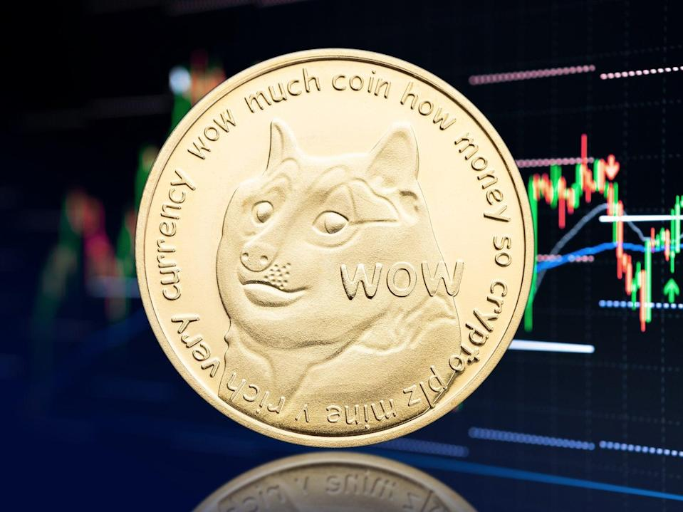 The price of dogecoin shot up by nearly 10 per cent on 1 July after Elon Musk tweeted about the cryptocurrency (Getty Images)