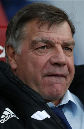 West Ham United's manager Sam Allardyce arrives for their English Premier League soccer match against Arsenal at Upton Park in London December 26, 2013. REUTERS/Suzanne Plunkett