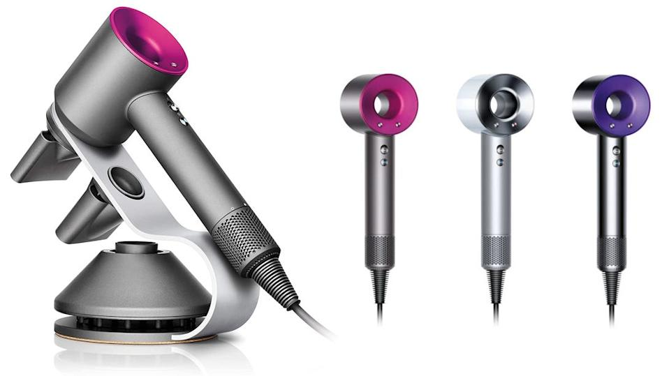 The Supersonic blow dryer is instantly recognizable with its unique design.