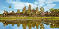 """<p>Any trip to the Southeast Asian country of Cambodia should include a visit to <a href=""""https://www.tripadvisor.com/Attraction_Review-g297390-d317907-Reviews-Angkor_Wat-Siem_Reap_Siem_Reap_Province.html"""" rel=""""nofollow noopener"""" target=""""_blank"""" data-ylk=""""slk:Angkor Wat"""" class=""""link rapid-noclick-resp"""">Angkor Wat</a>, the largest religious monument in the world. This sprawling, hauntingly beautiful Khmer temple complex, built in the 12th century, is comprised of a series of intricately carved stone temples. The main temple is Angkor Wat, but others to explore include Ta Phrom and Bayon.</p>"""