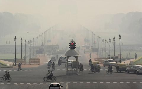 Flights into New Delhi were cancelled due to smog in November 2017 - Credit: Getty